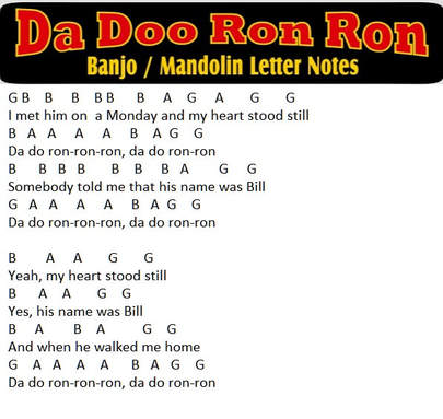 Da doo ron ron free music letter notes
