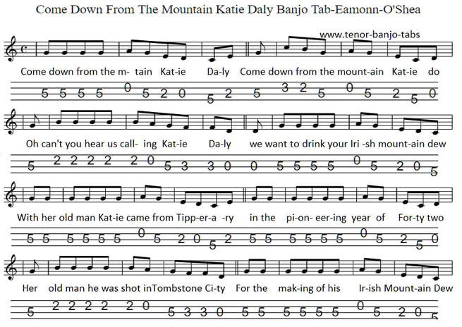 katie daly sheet music for banjo