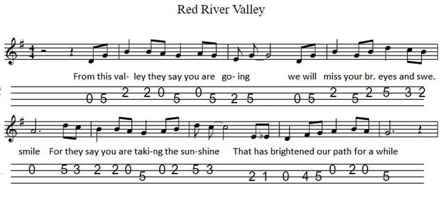 Red river valley banjo tab