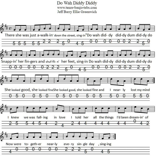 Do wah diddy banjo and mandolin sheet music