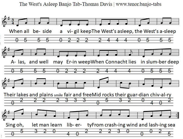 The West's Asleep Mandolin/Banjo Tab