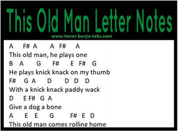 This old man banjo letter notes