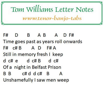 Tom williams letter notes by the Irish beigade
