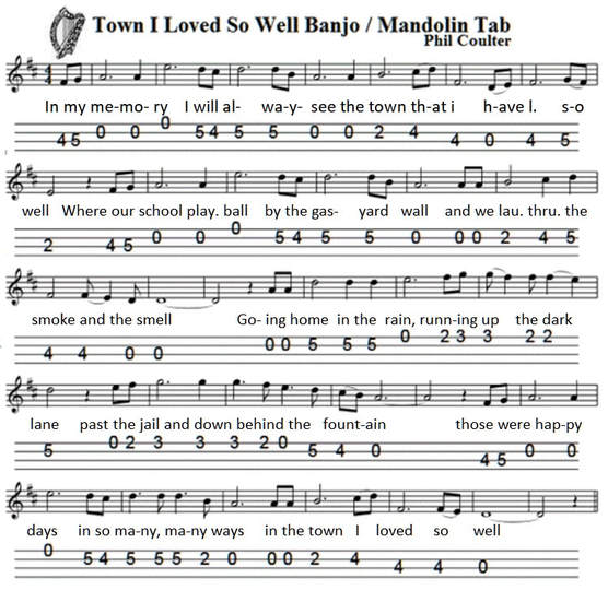 The town I loved so well banjo tab