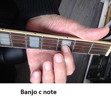 c note on the Irish banjo