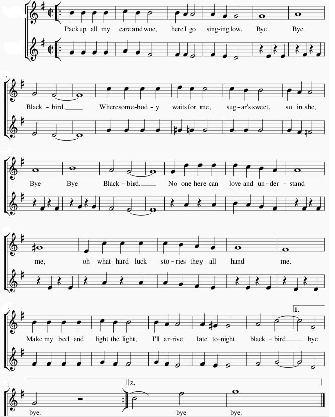 Bye Bye Blackbird Sheet Music in the key of G Major
