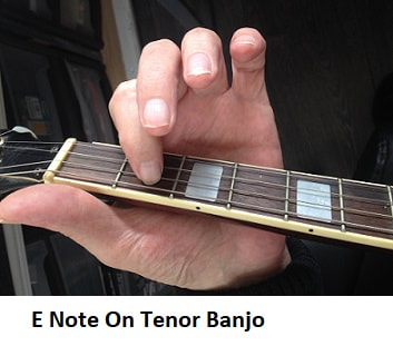 E note on Irish banjo