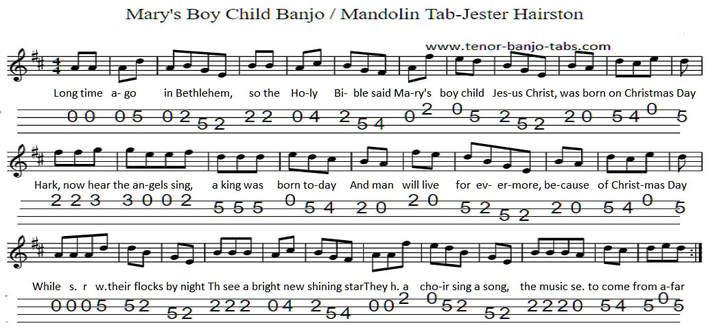 Mary's Boy Child Sheet Music Key Of D Major
