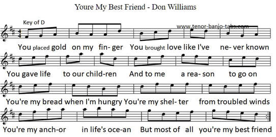 Your My Best Friend Sheet Music By Don Williams
