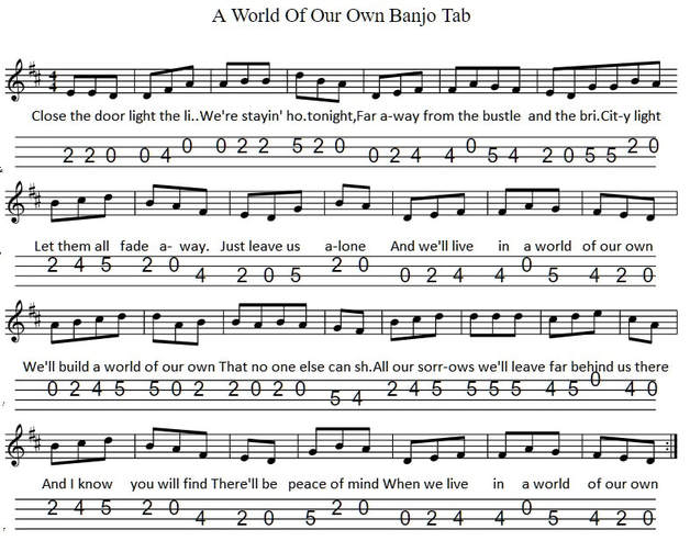 A World of our own banjo tab