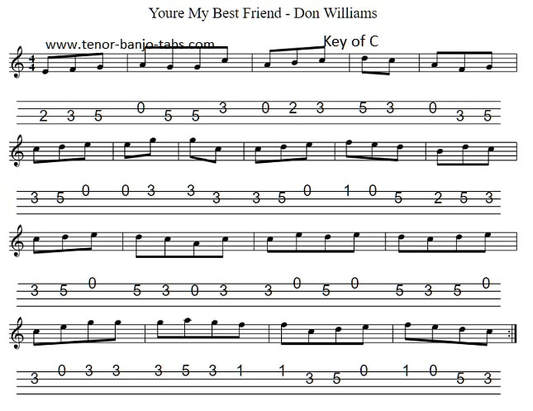 Your my best friend sheet music