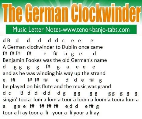 German clockwinder music notes for beginners