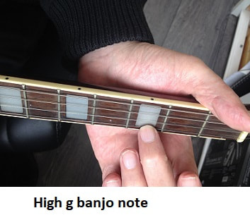 high g note on tenor banjo