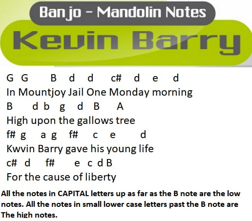 Kevin Barry music letter notes