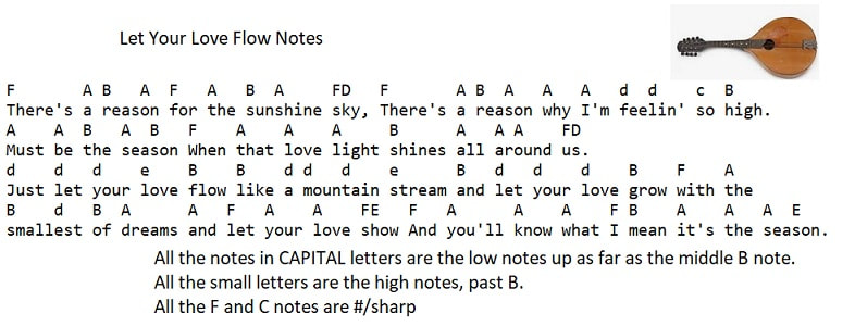 Let your love flow notes