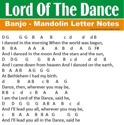 Lord of the dance music notes