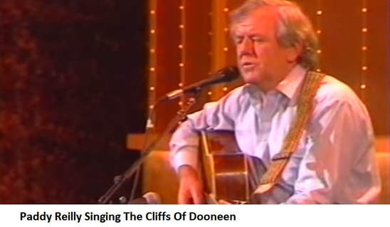 Paddy Reilly singing The Cliffs Of Dooneen