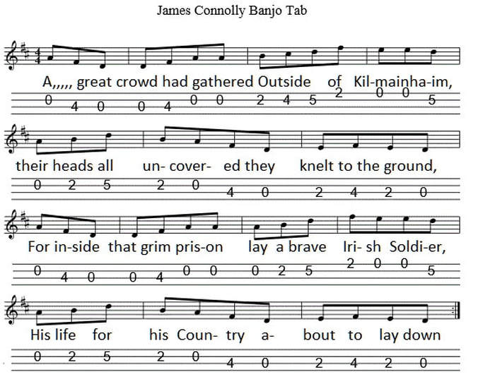 James Connolly Banjo tab