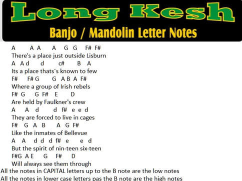 Long Kesh The Wolfe Tones song notes