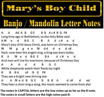 Mary's Boy Child Music Notes