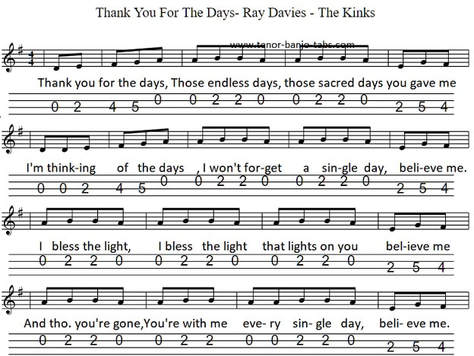 Days The Kinks Sheet Music