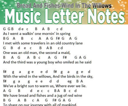 wind in the willows music letter notes
