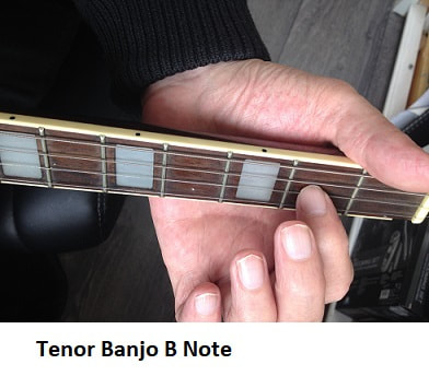 B note on the tenor banjo