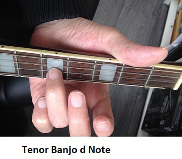 d note on Irish tenor banjo