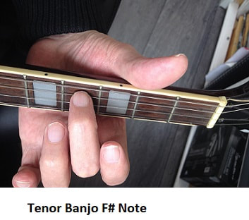 F # [ Sharp ] note on tenor banjo