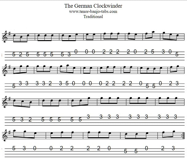 The German Clockwinder sheet music in the key of G Major