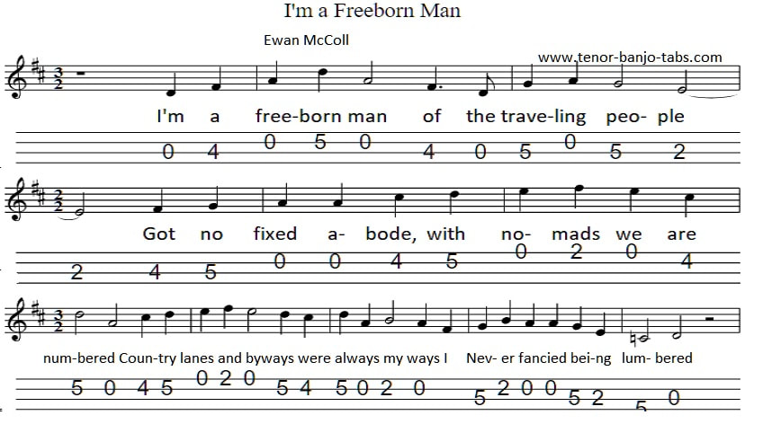 The Travelling People banjo and mandolin tab